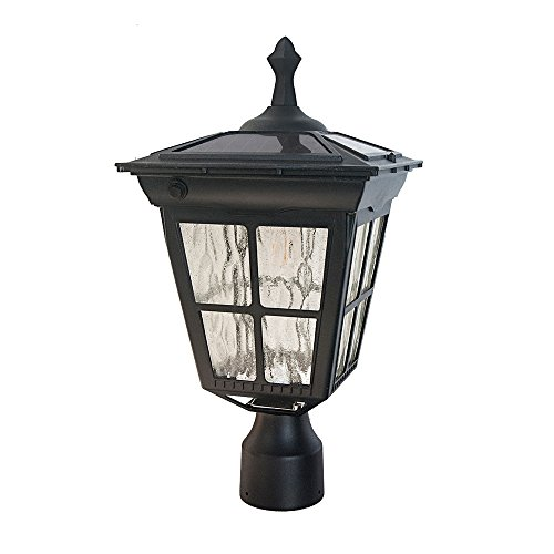 Kemeco ST4311AHP 6 LED Cast Aluminum Solar Lamp Post Light With Planter For Outdoor Landscape Pathway Street Patio Garden Yard 0 0