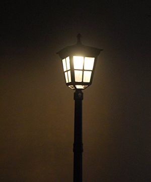 Kemeco ST4311AHP 6 LED Cast Aluminum Solar Lamp Post Light With Planter For Outdoor Landscape Pathway Street Patio Garden Yard 0 3 300x360