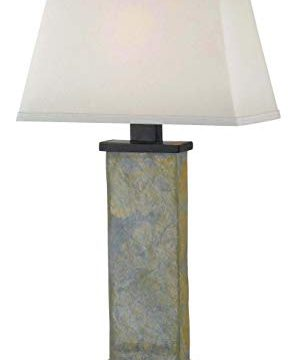 Kenroy Home Rustic Table Lamp 29 Inch Height 15 Inch Width 95 Inch Length With Natural Slate Finish 0 298x360