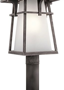 Kichler 49724WZC Beckett Outdoor Post 1 Light Incandescent 150 Watts Weathered Zinc 0 258x360