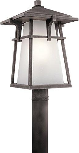 Kichler 49724WZC Beckett Outdoor Post 1 Light Incandescent 150 Watts Weathered Zinc 0