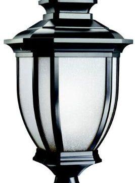 Kichler 9938BK Salisbury Aluminum Outdoor Post Lighting 150 Total Watts Black Painted 0 267x360