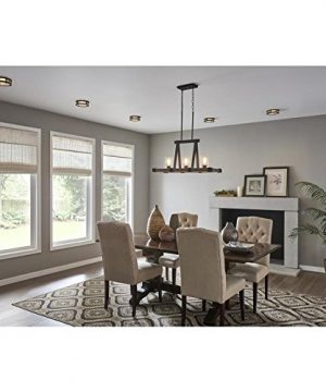 Kichler Barrington Distressed Black And Aged Wood Baffle Recessed Light Trim Fits Housing Diameter 4 In 0 1 300x360