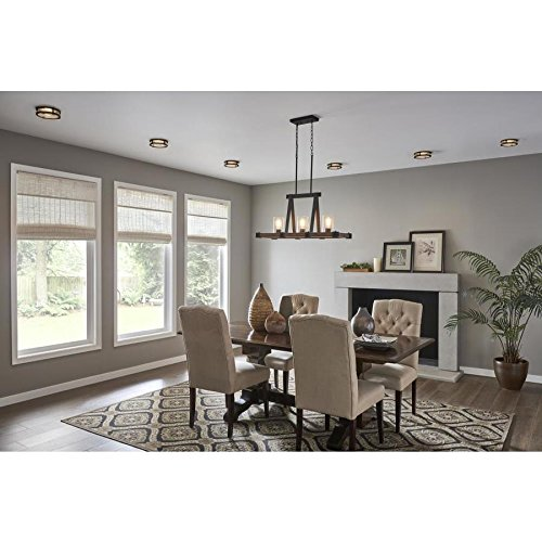 Kichler Barrington Distressed Black And Aged Wood Baffle Recessed Light Trim Fits Housing Diameter 4 In 0 1