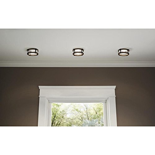 Kichler Barrington Distressed Black And Aged Wood Baffle Recessed Light Trim Fits Housing Diameter 4 In 0