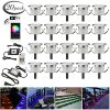 LED Deck Lights Kit 20pcs 122 WiFi Wireless Smart Phone Control Low Voltage Recessed RGB Deck Lamp In Ground Lighting Waterproof Outdoor Yard Path Stair Landscape Decor Fit For AlexaGoogle Home 0 100x100
