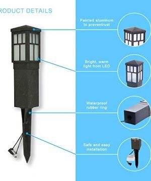 LED Landscape Lighting Malibu 8419 4321 01 Low Voltage Aged Iron Finish Square Metal Bollard Light 06watt 0 1 300x360