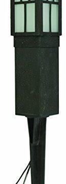 LED Landscape Lighting Malibu 8419 4321 01 Low Voltage Aged Iron Finish Square Metal Bollard Light 06watt 0 130x360