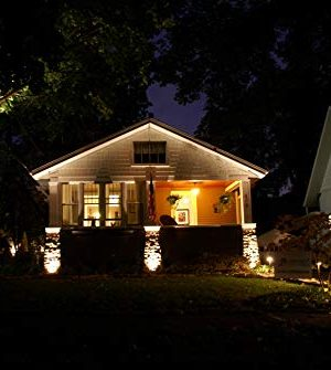 LED Landscape Lighting Malibu 8419 4321 01 Low Voltage Aged Iron Finish Square Metal Bollard Light 06watt 0 3 300x335