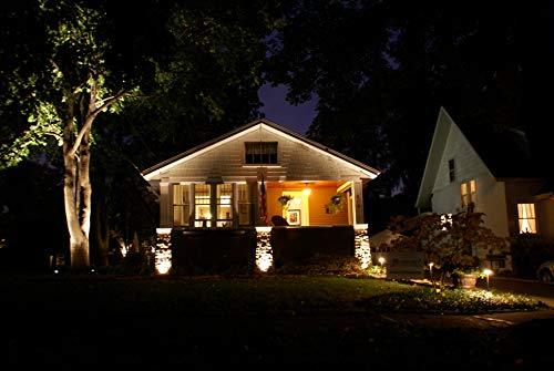 LED Landscape Lighting Malibu 8419 4321 01 Low Voltage Aged Iron Finish Square Metal Bollard Light 06watt 0 3