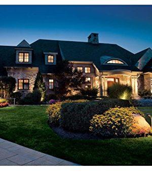 LED Landscape Lighting Malibu 8419 4321 01 Low Voltage Aged Iron Finish Square Metal Bollard Light 06watt 0 5 300x340