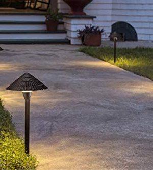 LEONLITE LED Landscape Lighting Outdoor Waterproof Garden Lights 3W 12V Low Voltage Pathway Lights 3000K Warm White ETL Listed Mushroom Shape 5 Years Warranty Pack Of 4 0 1 300x334