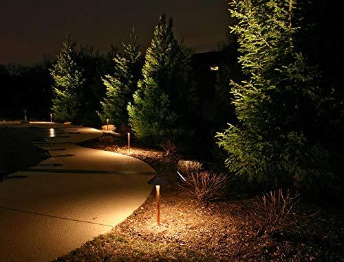 LEONLITE LED Landscape Lighting Outdoor Waterproof Garden Lights 3W 12V Low Voltage Pathway Lights 3000K Warm White ETL Listed Mushroom Shape 5 Years Warranty Pack Of 4 0 3