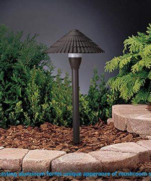 LEONLITE LED Landscape Lighting Outdoor Waterproof Garden Lights 3W 12V Low Voltage Pathway Lights 3000K Warm White ETL Listed Mushroom Shape 5 Years Warranty Pack Of 4 0 4 300x360