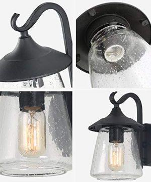 LOG BARN Outdoor Wall LightFarmhouse Exterior Lantern In Black With Seeded Glass For Porch Barn A03356 1 Light Light 0 5 300x360