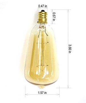 LOKATSE HOME 10 Ft String Lights Outdoor Ten Bulbs For Patio Garden Porch Backyard Party Deck Yard Edison Style 0 2 300x360