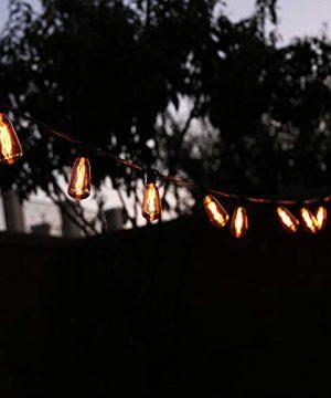 LOKATSE HOME 10 Ft String Lights Outdoor Ten Bulbs For Patio Garden Porch Backyard Party Deck Yard Edison Style 0 5 300x360