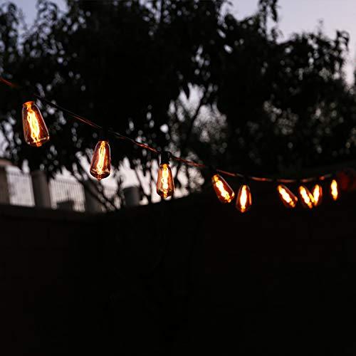 LOKATSE HOME 10 Ft String Lights Outdoor Ten Bulbs For Patio Garden Porch Backyard Party Deck Yard Edison Style 0 5
