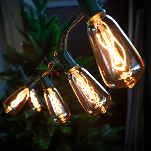 LOKATSE HOME 10 Ft String Lights Outdoor Ten Bulbs For Patio Garden Porch Backyard Party Deck Yard Edison Style 0