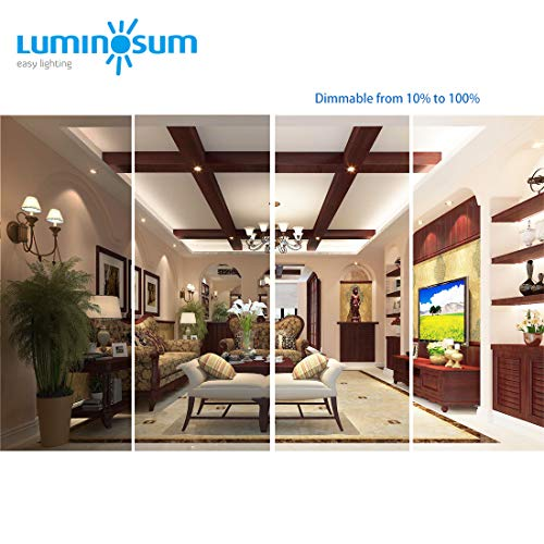 LUMINOSUM 4 Inch 9W COB LED Gimbal Downlight With Junction Box 700lm 60W Equiv Dimmable IC Rated Airtight ETL Energy Star Listed Daylight 5000k 12 Pack 0 0