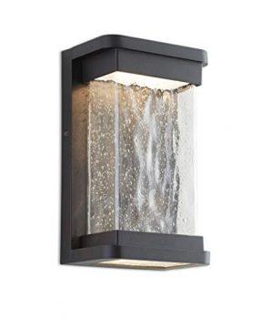 LUTEC Starry 1857 795 Lumen 3000K LED Wall Light With Seeded Glass Modren Porch Light Indoor Outdoor Sconce Wall Lighting 0 300x360