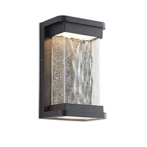 Lutec Starry 1857 795 Lumen 3000k Led Wall Light With Seeded Glass Modren Porch Light Indoor Outdoor Sconce Wall Farmhouse Goals