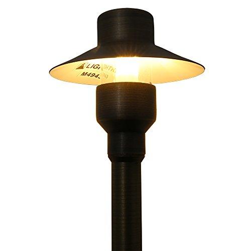 Lightkiwi M4943 Top Hat Path Area Light For 12 Volt Landscape Lighting Brass Light Bulb Not Included 0 1