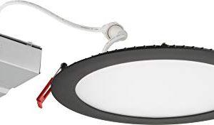 Lithonia Lighting WF6 30K40K50K 90CRI MB M6 LED Color Temperature Selectable Ultra Thin Recessed Downlight 3000K 4000K 5000K Black 0 300x176