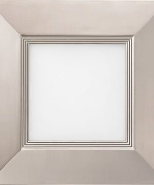 Lithonia Lighting WF6 SQ B LED 27K BN M6 14W Ultra Thin Square Dimmable LED Recessed Ceiling Light With Baffle Trim 2700K Warm White Brushed Nickel 0 0 300x360