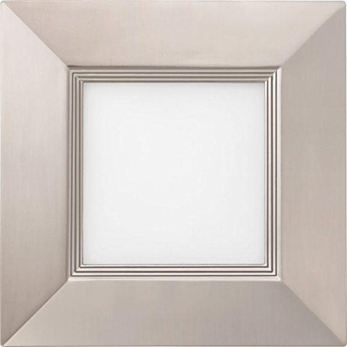 Lithonia Lighting WF6 SQ B LED 27K BN M6 14W Ultra Thin Square Dimmable LED Recessed Ceiling Light With Baffle Trim 2700K Warm White Brushed Nickel 0 0