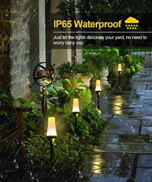 Low Voltage Landscape Lights ALOVECO RGB Pathway Lights Outdoor 8 In 1 Waterproof LED Path Lights Color Changing Consistently Garden Landscape Lighting For Patio Lawn Yard Driveway5V 0 0 300x360
