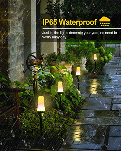 Low Voltage Landscape Lights ALOVECO RGB Pathway Lights Outdoor 8 In 1 Waterproof LED Path Lights Color Changing Consistently Garden Landscape Lighting For Patio Lawn Yard Driveway5V 0 0