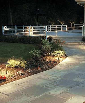 Lumina Low Voltage Landscape Lighting Cast Aluminum Outdoor Path And Area Light Warm White 3W G4 LED Bulb And ABS Heavy Duty Ground Stake Included For Yard Walkway Lawn Bronze PAL0101 BZLED8 8PK 0 3 300x360