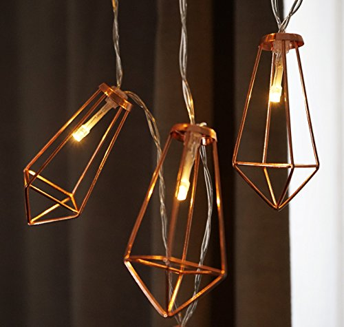 LuxLumi Diamonds Are Forever Rose String Lights Gold Wire Caged Soft White 20 LED For Rustic Bedroom Nursery Dorm Home Dcor Teen Kids Baby Bridal Shower 4th Of July Pack Of 2 0 1
