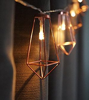 LuxLumi Diamonds Are Forever Rose String Lights Gold Wire Caged Soft White 20 LED For Rustic Bedroom Nursery Dorm Home Dcor Teen Kids Baby Bridal Shower 4th Of July Pack Of 2 0 2 300x334