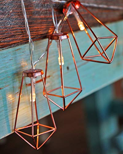 LuxLumi Diamonds Are Forever Rose String Lights Gold Wire Caged Soft White 20 LED For Rustic Bedroom Nursery Dorm Home Dcor Teen Kids Baby Bridal Shower 4th Of July Pack Of 2 0