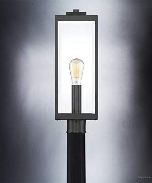 Luxury Modern Farmhouse PostPier Large Size 2050H X 700W With Industrial Style Elements Natural Black Finish UQL1333 From The Quincy Collection By Urban Ambiance 0 3 300x360