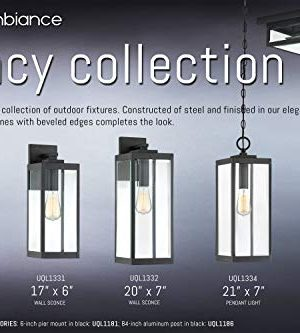 Luxury Modern Farmhouse PostPier Large Size 2050H X 700W With Industrial Style Elements Natural Black Finish UQL1333 From The Quincy Collection By Urban Ambiance 0 5 300x333