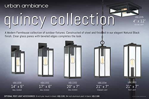 Luxury Modern Farmhouse PostPier Large Size 2050H X 700W With Industrial Style Elements Natural Black Finish UQL1333 From The Quincy Collection By Urban Ambiance 0 5