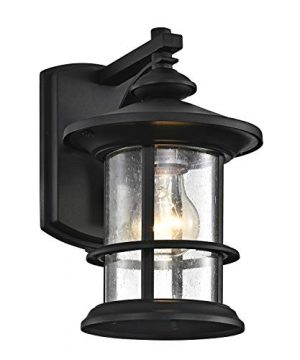 Micsiu Outdoor Wall Light Fixture Exterior Wall Mount Lantern Waterproof Vintage Wall Sconce With Clear Seedy Glass For Farmhouse Goals