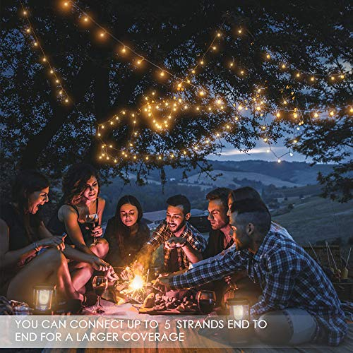 MOICO Globe String Lights For Bedroom 43ft 100 LED 8 Modes Plug In Decorative Lights Waterproof Fairy String Lights For Patio Indoor Outdoor Christmas Wedding Party Connectable Warm White 0 2