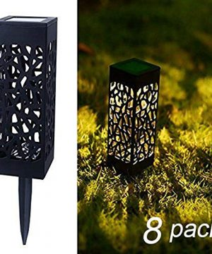 Maggift 8 Pcs Solar Powered LED Garden Lights Automatic Led For Patio Yard And Garden 0 300x360