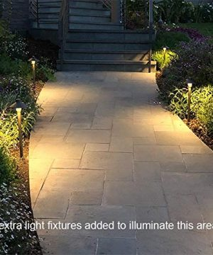 MarsLG BRS1 ETL Listed Solid Brass Low Voltage Landscape Accent Path And Area Light With 65 Shade And 18 Stem In Antique Brass Finish Ground Spike And Free G4 LED Bulb 2 Pack 36PL01BSx2 0 3 300x360