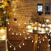 Mikikin Globe String Lights 49ft 100 LED Warm White Fairy String Lights Waterproof With 8 Modes Remote Timer UL Listed Plug In String Light Perfect For Indoor Outdoor Patio Bedroom Decoration 0 100x100