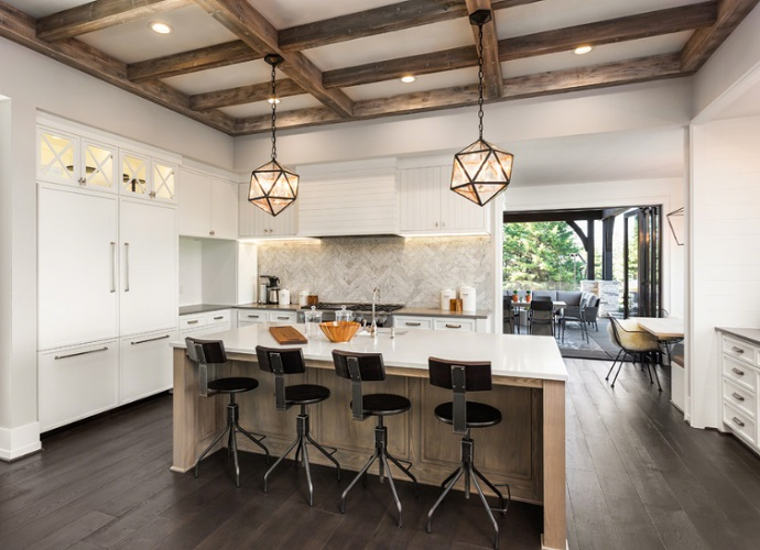 Modern Farmhouse Calabasas Kitchen by Pure Builders Inc.