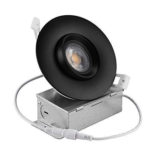 NICKLED 12W 4 Inches Led Gimbal Downlights Directional Adjustable Dimmable LED Retrofit Recessed Lighting Fixture100W Replacement 5000K Natural White 1100Lumens 1 Natural White5000K Ra90 0