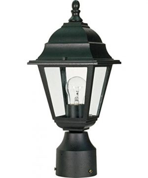 NUVO 60548 Outdoor Post Lantern 14 X 6 Inches 60 Watts120 Volts Unknown Black 0 300x360