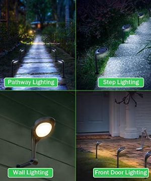 OSORD Outdoor Solar Pathway Lights Waterproof 2 In 1 Solar Powered Wall Light Landscape Lighting Auto OnOff With 2 Color Modes Solar Lights For Garden Path Yard Patio Walkway Driveway Pool 4 Pack 0 0 300x360