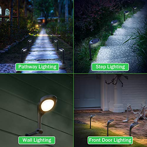 OSORD Outdoor Solar Pathway Lights Waterproof 2 In 1 Solar Powered Wall Light Landscape Lighting Auto OnOff With 2 Color Modes Solar Lights For Garden Path Yard Patio Walkway Driveway Pool 4 Pack 0 0