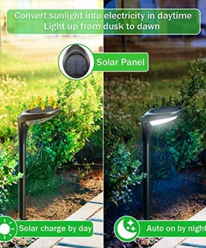 OSORD Outdoor Solar Pathway Lights Waterproof 2 In 1 Solar Powered Wall Light Landscape Lighting Auto OnOff With 2 Color Modes Solar Lights For Garden Path Yard Patio Walkway Driveway Pool 4 Pack 0 1 300x360